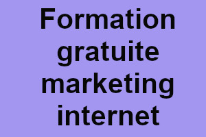 Une formation gratuite de web marketing